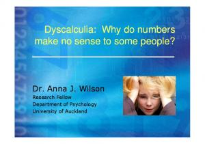 Dyscalculia: Why do numbers make no sense to some people?