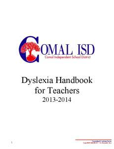 Dyslexia Handbook for Teachers