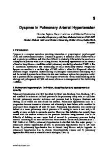 Dyspnea in Pulmonary Arterial Hypertension