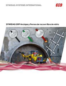 DYWIDAG GRP Anclajes y Pernos de roca en fibra de vidrio
