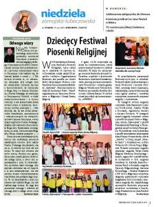 Dziecięcy Festiwal. Piosenki Religijnej. zamojsko-lubaczowska
