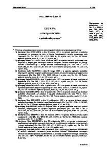Dz.U Nr 3 poz. 11 USTAWA. z dnia 6 grudnia 2008 r. o podatku akcyzowym 1)
