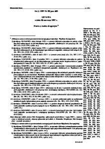 Dz.U Nr 98 poz USTAWA z dnia 20 czerwca 1997 r. Prawo o ruchu drogowym 1)