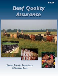 E-1005 Beef Quality Assurance