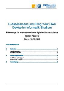 E-Assessment und Bring Your Own Device im Informatik-Studium