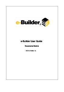 e-builder User Guide Documents Module