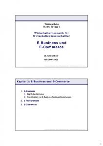 E-Business und E-Commerce