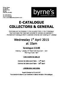 E-CATALOGUE COLLECTORS & GENERAL