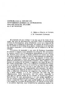 E. CERRILLO MARTN DE CÁCERES J. M.a FERNÁNDEZ CORRALES