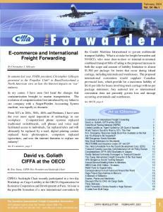 E-commerce and International Freight Forwarding