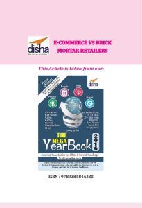 E-COMMERCE VS BRICK MORTAR RETAILERS