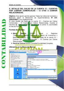 E. DETALLE DEL SALDO DE LA CUENTA 12 CUENTAS POR COBRAR COMERCIALES 13 CTAS X COBRAR RELACIONADAS