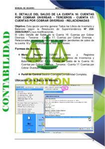 E. DETALLE DEL SALDO DE LA CUENTA 16: CUENTAS POR COBRAR DIVERSAS - TERCEROS - CUENTA 17: CUENTAS POR COBRAR DIVERSAS - RELACIONADAS