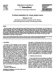 E-ethical leadership for virtual project teams