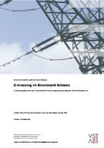E-Invoicing im Strommarkt Schweiz. Branchenempfehlung Strommarkt Schweiz