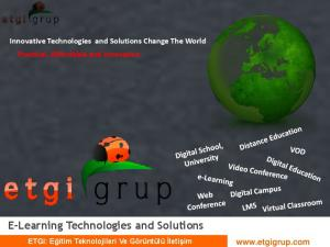 E-Learning Technologies and Solutions