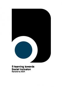 E-learning towards Social Inclusion