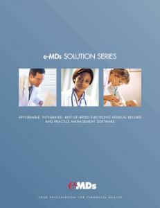 e-mds SOLUTION SERIES