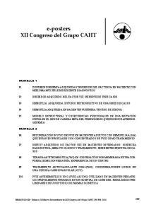 e-posters XII Congreso del Grupo CAHT