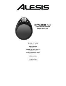 E-PRACTICE PAD ELECTRONIC DRUM PRACTICE PAD