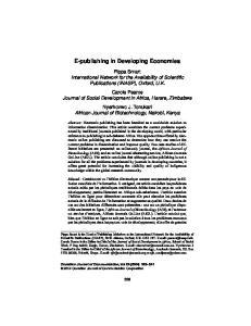 E-publishing in Developing Economies