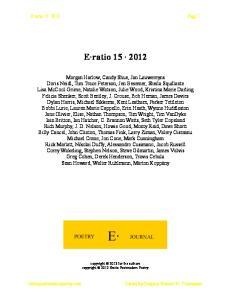 E ratio Page 1. E ratio