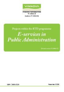 E-services in Public Administration