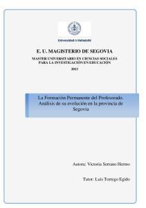 E. U. MAGISTERIO DE SEGOVIA