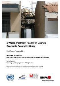 e-waste Treatment Facility in Uganda Economic Feasibility Study