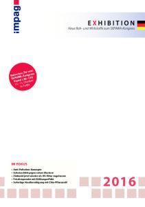 E X HIBITION Neue Roh- und Wirkstoffe zum SEPAWA-Kongress