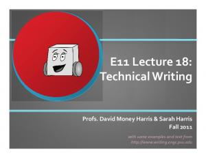 E11 Lecture 18: Technical Writing