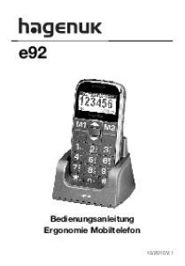 e92 Bedienungsanleitung Ergonomie Mobiltelefon