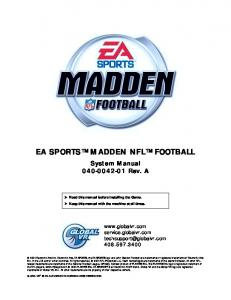 EA SPORTS MADDEN NFL FOOTBALL