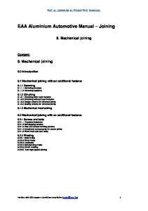 EAA Aluminium Automotive Manual Joining