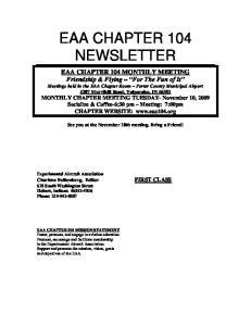 EAA CHAPTER 104 NEWSLETTER