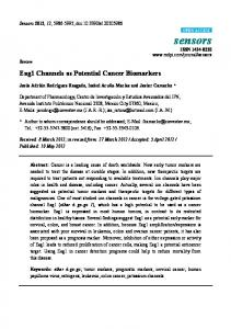 Eag1 Channels as Potential Cancer Biomarkers