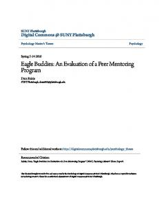 Eagle Buddies: An Evaluation of a Peer Mentoring Program