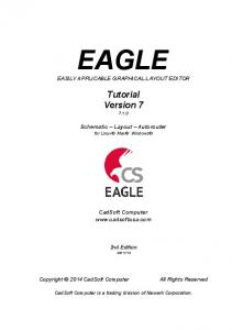 EAGLE EASILY APPLICABLE GRAPHICAL LAYOUT EDITOR
