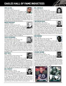 EAGLES HALL OF FAME INDUCTEES