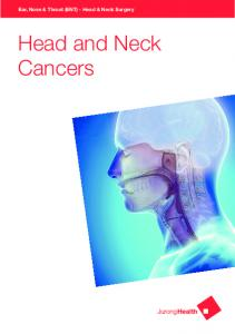 Ear, Nose & Throat (ENT) - Head & Neck Surgery. Head and Neck Cancers