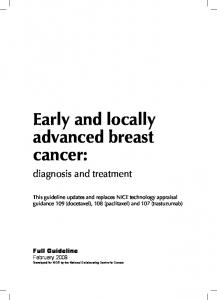 Early and locally advanced breast cancer: