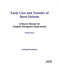 Early Care and Transfer of Burn Patients
