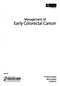 Early Colorectal Cancer