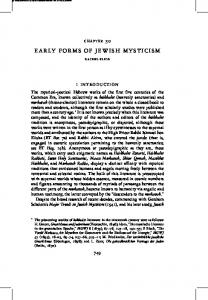 EARLY FORMS OF JEWISH MYSTICISM