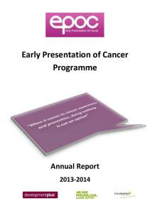 Early Presentation of Cancer Programme