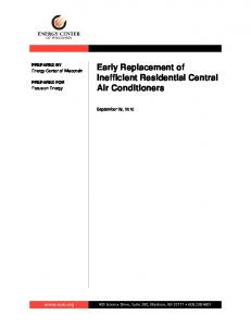 Early Replacement of Inefficient Residential Central Air Conditioners