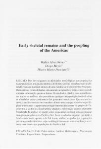 Early skeletal remains and the peopling of the America s