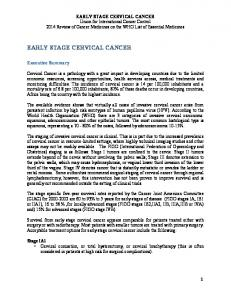EARLY STAGE CERVICAL CANCER