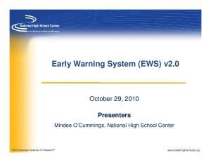 Early Warning System (EWS) v2.0