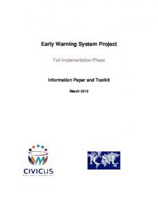 Early Warning System Project